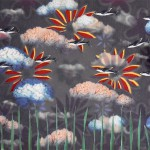 #venus, #brain clouds, #grass, #collage, #flying fish, #flowers, #wallpaper