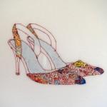heels, shoes, maps, high, walking