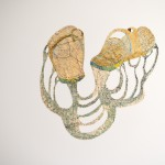 Sandals,			Machine embroidery and collage 80x70cm
