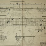 Technical paper, drawing, train, train carriages, centipede