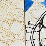 eye, anatomy, maps, street map, canvas, drawing