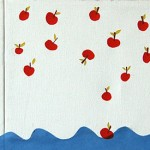 apples, tree, roots, water, sea, eating earth, mouthtain. collage, maps, mountain