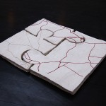 Jigsaw puzzle, plaster, wax, installation, maps, city plan, arteries