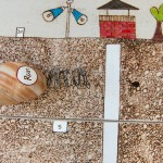 Calendar, snails, slow, finishing line, race, dates, collage, drawing, magnets