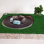camping, grass, installation, round in circles, sea side